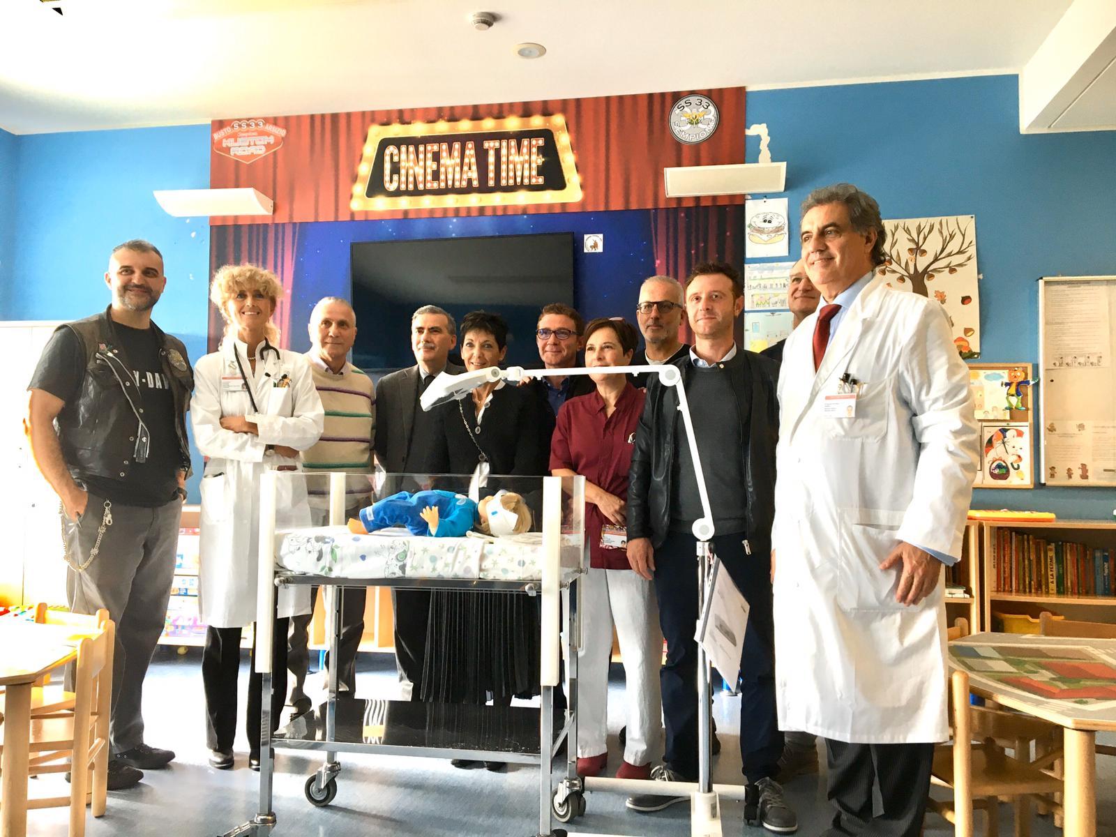 donazione lampada Ospedale di Legnano